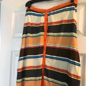 Missoni sport multi colored skirt button front